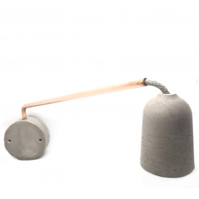 Applique béton et cuivre 40 cm